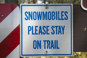 Snowmobiles Stay on Trails