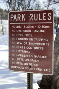 Lake Huron Park Rules