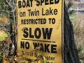 No Wake Lake