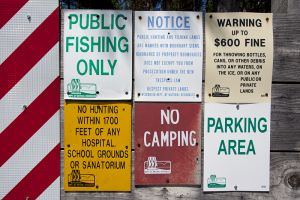 Public Fishing No Camping