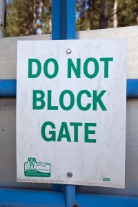 Do Not Block Gate
